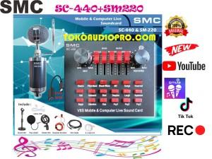 Harga smc sm220 sm440 paket soundcard youtube gamer | HARGALOKA.COM