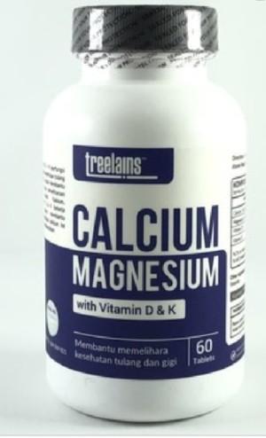 Harga treelains calcium magnesium w vitamin d amp k 60 tablets utk | HARGALOKA.COM