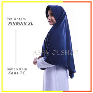 Harga jilbab instan pet antem pinguin xl hijab kaos kerudung bergo | HARGALOKA.COM