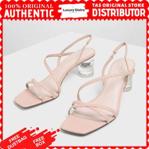 Harga sandal heels charles and keith original s209   pink | HARGALOKA.COM