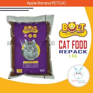 Harga makanan kucing bolt cat food 1kg   makanan kucing repack   HARGALOKA.COM