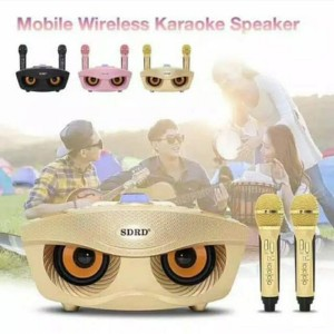 Harga fleco sd 306 karaoke speaker bluetooth dengan 2 microphone wireless   HARGALOKA.COM