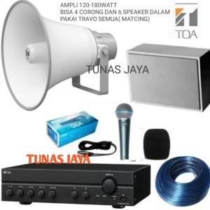 Harga paket ampli toa za2120 bisa 6   10 speaker paket sound masjid   HARGALOKA.COM