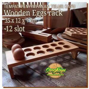 Harga tempat telur ayam 12 slot rustic chicken egg rack penyimpanan | HARGALOKA.COM