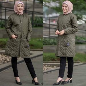 Harga jaket jacket wanita cewek panjang muslimah hijaber hijacket ori belva   hijau | HARGALOKA.COM