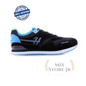 Harga sepatu casual sneakers black blue   h 5145 hrcn   | HARGALOKA.COM