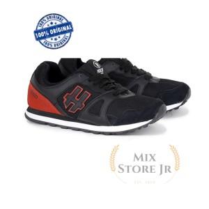 Harga sepatu casual sneakers pria black red   h 5333 hrcn   | HARGALOKA.COM