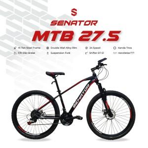 Harga sepeda mtb cross country 27 5 sepeda gunung   hitam | HARGALOKA.COM