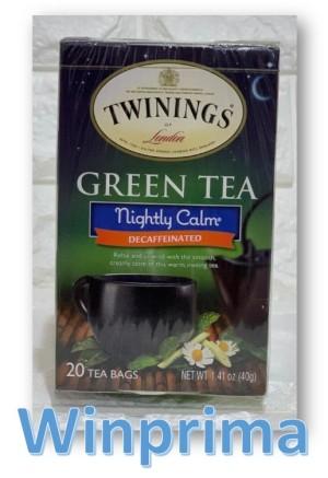 Harga twinings green tea nightly calm naturally decaffeinated   20 | HARGALOKA.COM