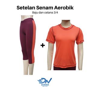 Harga setelan baju olahraga cewek untuk senam aerobik jogging dan yoga     HARGALOKA.COM
