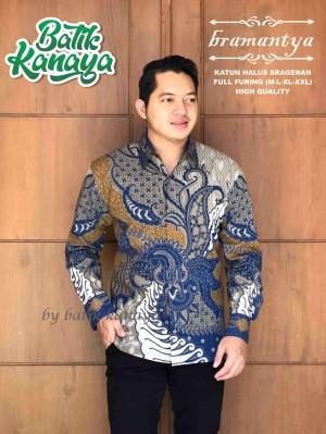 Harga bramantya kemeja batik panjang kanaya batiksoloamanah 140 000   | HARGALOKA.COM