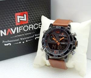 Harga jam tangan naviforce nf 9134 brown black dial orange pria | HARGALOKA.COM
