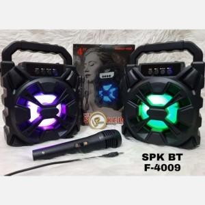 Harga speaker bluetooth f 4009 mic karaoke ukuran   HARGALOKA.COM