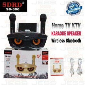 Harga speaker bluetooth dual mic karaoke sdrd sd 306 dua | HARGALOKA.COM