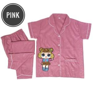 Harga piyama embos anak lol lampu led baju tidur anak embos gambar lol murah   merah muda | HARGALOKA.COM