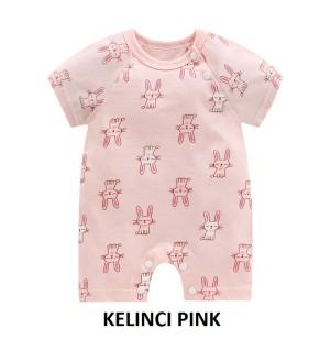 Harga fashion bayi amp anak romper baby single bodysuit motif pink kelinci   59 | HARGALOKA.COM