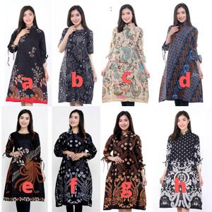 Harga baju batik wanita   atasan batik wanita tunik modern murah   | HARGALOKA.COM