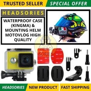 Harga case xiaomi yi waterproof include mounting helm | HARGALOKA.COM