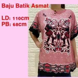 Harga baju batik asmat dasar warna bahan rayon premium fit to xl | HARGALOKA.COM
