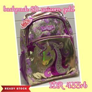 Harga smiggle backpack unicorn gold sd   tas ransel | HARGALOKA.COM