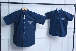 Harga kemeja couple ayah dan anak half square kemeja anak dan dewasa arima   biru navy anak xs 1   HARGALOKA.COM