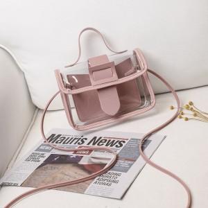 Harga tas selempang transparan jelly satchel mini korea lomenia tas012   merah | HARGALOKA.COM