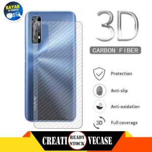 Harga garskin carbon realme 7 2020 back screen sticker skin | HARGALOKA.COM