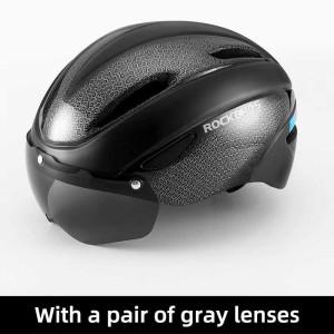 Harga rockbros helm sepeda lipat mtb balap roadbike helmet kacamata wt018s   black   HARGALOKA.COM