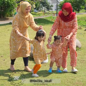 Harga baju couple ibu anak setelan dan dress dewasa kimono dan dress anak   all size | HARGALOKA.COM