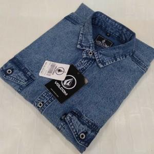 Harga kemeja jeans pria lengan pendek original 2 kemeja pria kemeja | HARGALOKA.COM