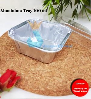 Harga aluminium foil cup tray 100 ml tutup   wadah makanan premium | HARGALOKA.COM