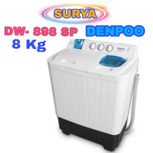 Harga mesin cuci denpoo semi auto 2 tabung dw 898sp 8kg 4 | HARGALOKA.COM