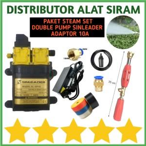 Harga paket steam cuci ac motor pompa dc 12v double pump sprayer alat   HARGALOKA.COM