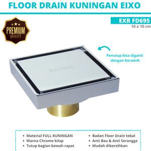 Harga floor drain full brass saringan got kuningan eixo exr fd695 10 x 10 | HARGALOKA.COM