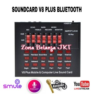 Harga soundcard live mixer v8 plus mobile usb external bluetooth audio     HARGALOKA.COM