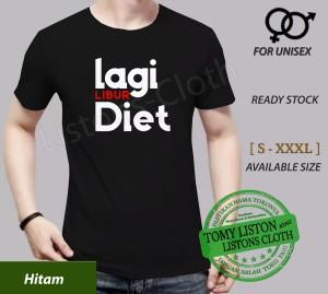 Harga kaos distro humor unik baju orang gemuk gendut lagi libur diet   | HARGALOKA.COM