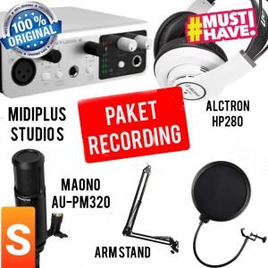 Harga paket recording podcast asmr maono au pm320 dan soundcard midiplus   studio | HARGALOKA.COM