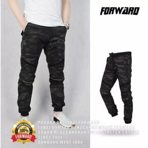 Harga celana joger pria panjang jogger sepeda casual ziper army original   abu gelap | HARGALOKA.COM
