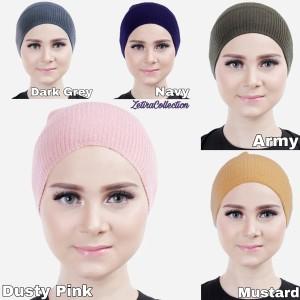 Harga ciput inner bandana hijab rajut polos tidak panas dan nyaman   | HARGALOKA.COM