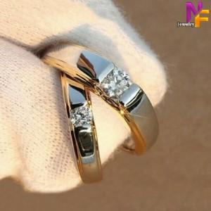 Harga cincin kawin couple nikah tunangan emas perak 925 b | HARGALOKA.COM