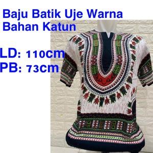 Harga baju batik bali uje pelangi bahan rayon premium baju uje | HARGALOKA.COM
