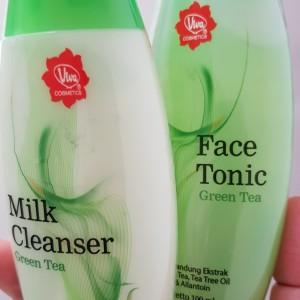 Harga paket viva milk cleanser face tonic green tea 100ml ed 09 | HARGALOKA.COM