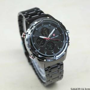 Harga jam tangan pria swiss army dualtime rantai stainless steel warna   HARGALOKA.COM