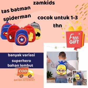 Harga tas ransel anak karakter superhero lucu keren spiderman | HARGALOKA.COM