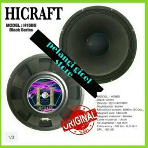Harga speaker component hicraft h 15 bs 15 inch 600 watt fullrange original | HARGALOKA.COM