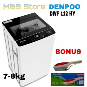 Harga mesin cuci denpoo full auto dwf 112 hy 7 8 kg stainless inner tub   tempered | HARGALOKA.COM
