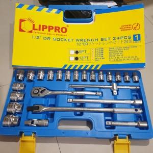 Harga kunci sok set lippro 24 pcs box plastik socket set lipro | HARGALOKA.COM