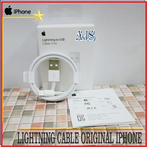 Harga original iphone 100 isi paket 1 unit kabel data lightning | HARGALOKA.COM