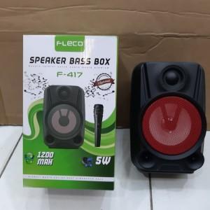 Harga speaker bass box bluetooth free mic karaoke fleco f 417     HARGALOKA.COM