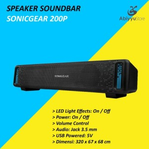 Harga speaker sonicgear sonicbar 200p audio for laptop   notebook   | HARGALOKA.COM